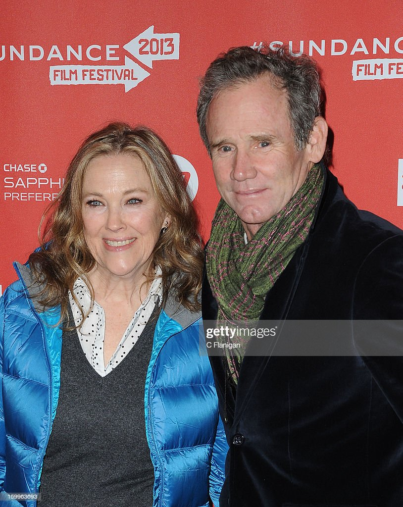 Actress <a gi-track='captionPersonalityLinkClicked' href=/galleries/search?phrase=Catherine+O%27Hara&family=editorial&specificpeople=563604 ng-click='$event.stopPropagation()'>Catherine O'Hara</a> and director Bo Welch attend the 'A.C.O.D.' Premiere during the 2013 Sundance Film Festival at Eccles Center Theatre on January 23, 2013 in Park City, Utah.