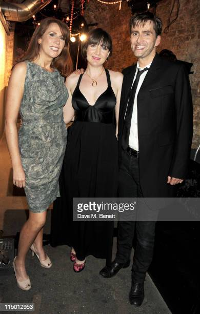 Actress Catherine Tate director Josie Rourke and actor David Tennant attend an after party celebrating press night of the new west end production of...