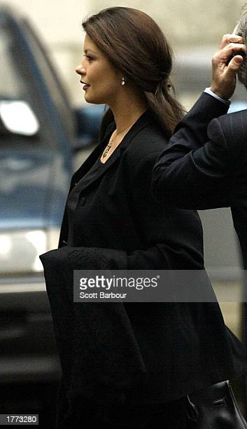 Actress Catherine Zeta Jones arrives at the Royal Courts of Justice February 10 2003 in London United Kingdom The Hollywood couple Catherine Zeta...