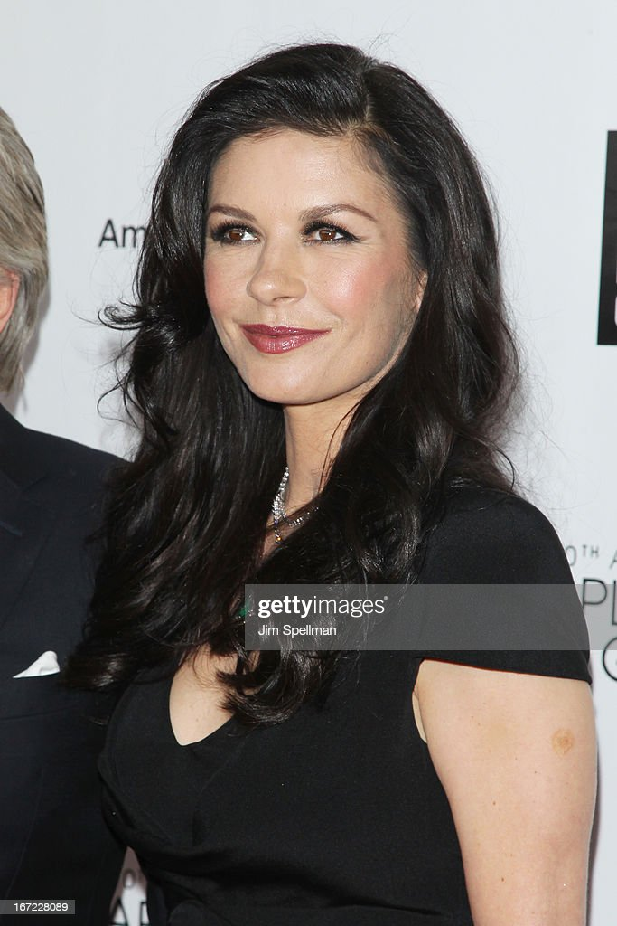 Actress Catherine Zeta Jones attends the 40th Anniversary Chaplin Award Gala at Avery Fisher Hall at Lincoln Center for the Performing Arts on April 22, 2013 in New York City.