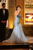 Actress Catherine ZetaJones accepts her award for Best Performance by a Leading Actress in a Musical onstage during the 64th Annual Tony Awards at...