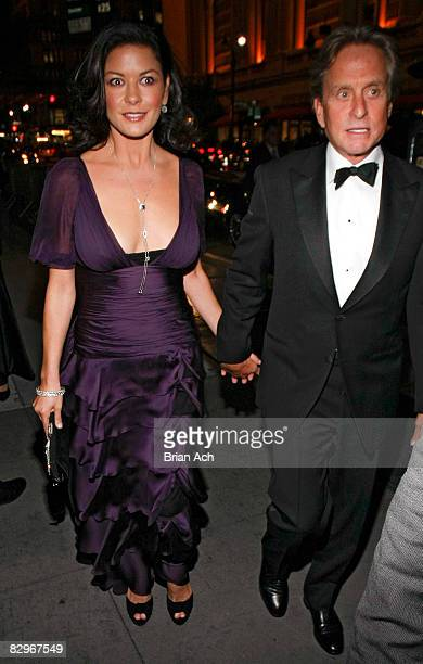 Actress Catherine ZetaJones and actor Michael Douglas at the Elie Wiesel Foundation for Humanity to Honor French President Nicolas Sarkozy event at...