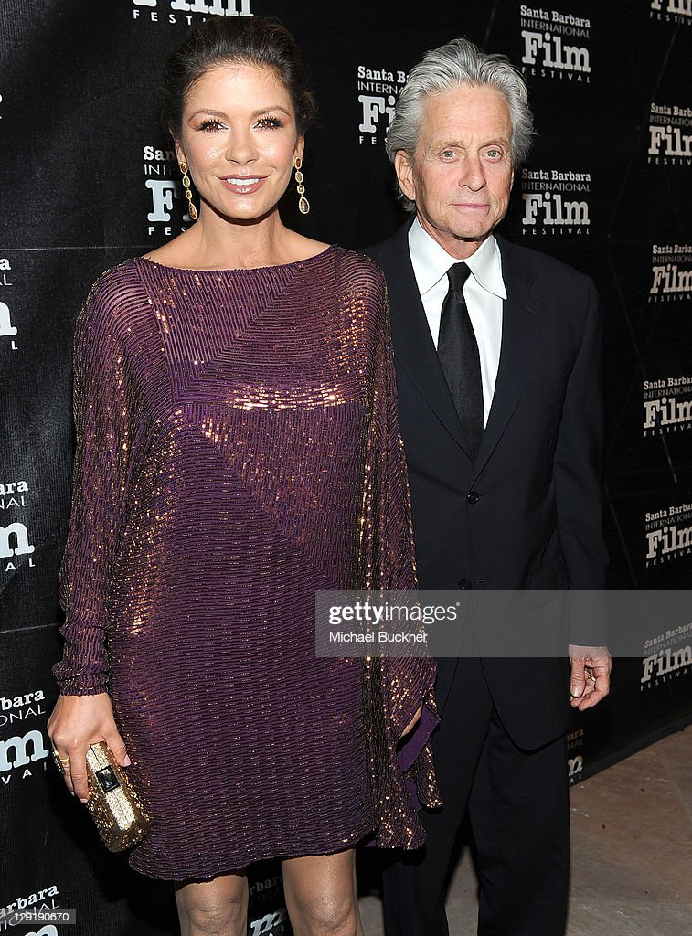 Actress Catherine Zeta-Jones (L) and actor Michael Douglas attend SBIFF's 2011 Kirk Douglas Award for Excellence In Film honoring Michael Douglas at the Biltmore Four Seasons on October 13, 2011 in Santa Barbara, California.