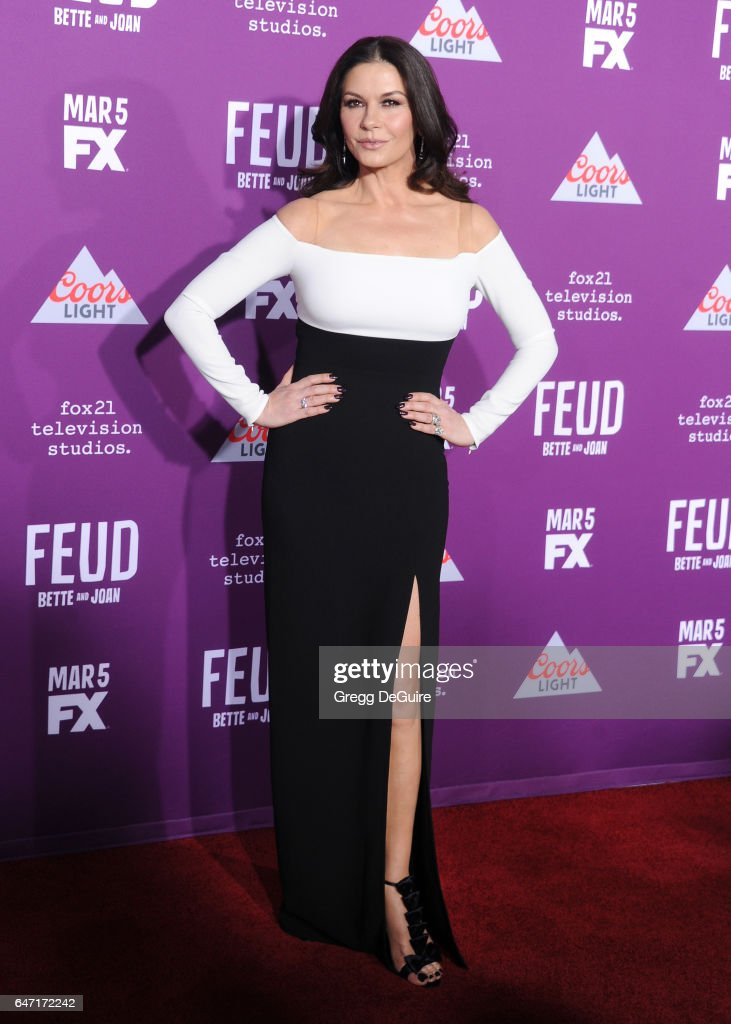 Actress Catherine Zeta-Jones arrives at the premiere of FX Network's 'Feud: Bette And Joan' at Grauman's Chinese Theatre on March 1, 2017 in Hollywood, California.