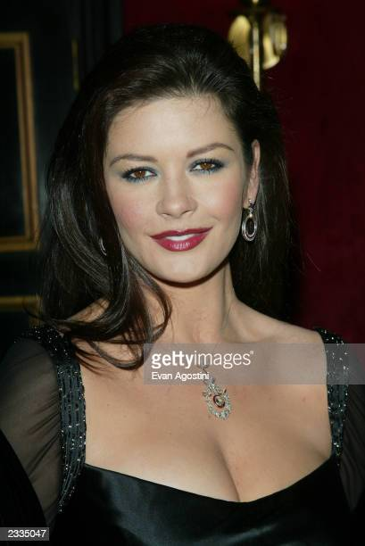 Actress Catherine ZetaJones arriving at a special screening of 'Chicago' to benefit GLAAD and Broadway Cares at the Ziegfeld Theater New York City...