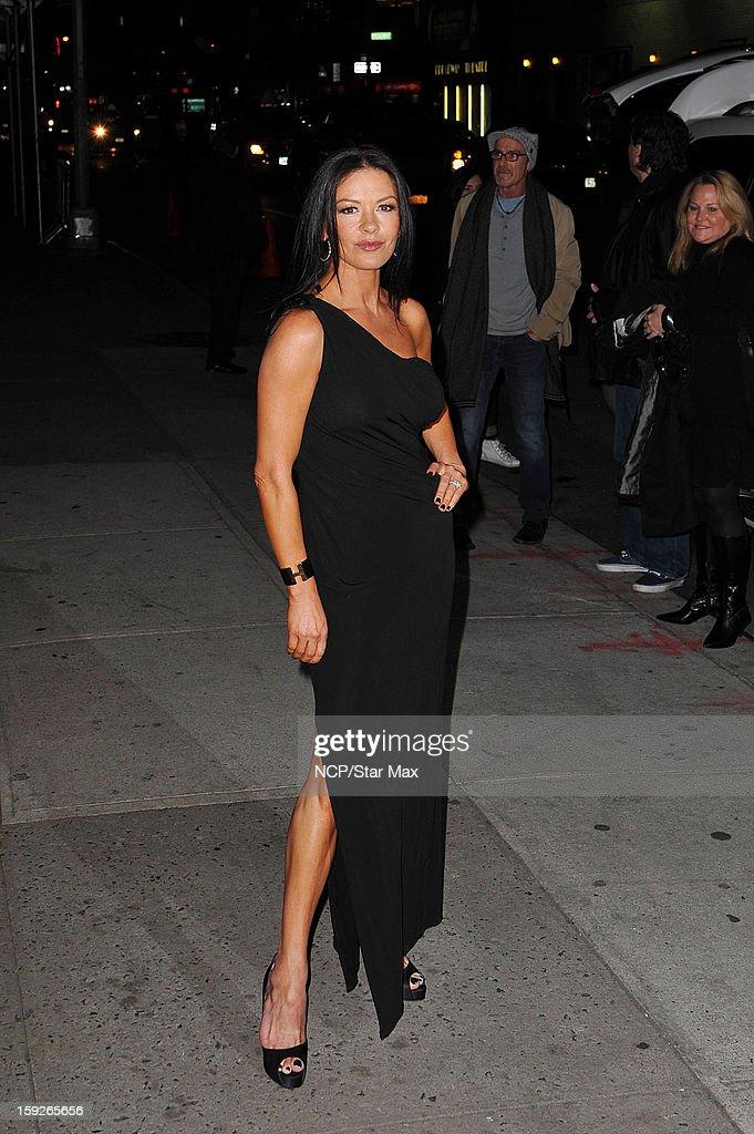 Actress Catherine Zeta-Jones as seen on January 10, 2013 in New York City.