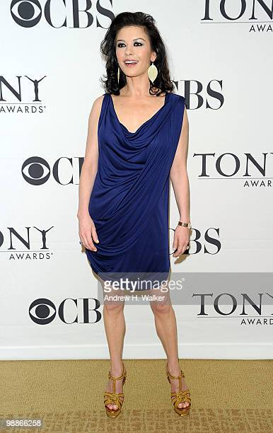 Actress Catherine ZetaJones attends the 2010 Tony Awards Meet the Nominees Press Reception on May 5 2010 in New York City