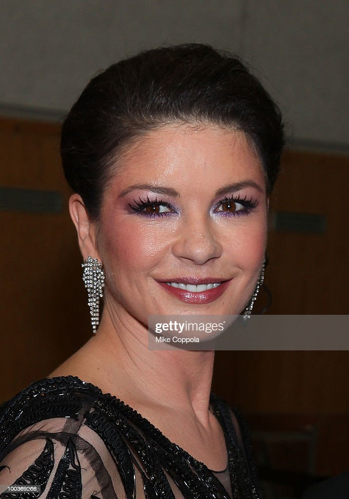 Actress Catherine Zeta-Jones attends the 55th Annual Drama Desk Awards at the FH LaGuardia Concert Hall at Lincoln Center on May 23, 2010 in New York City.