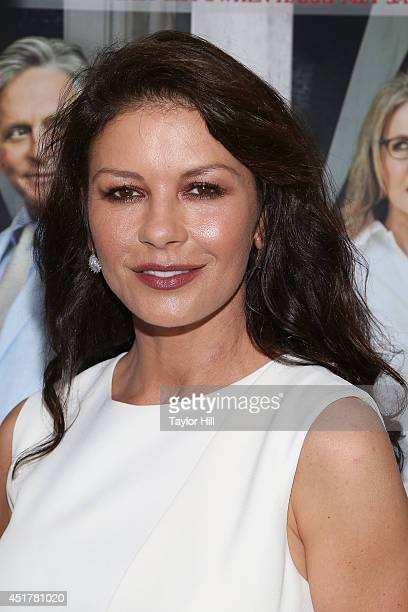 Actress Catherine ZetaJones attends the 'And So It Goes' premiere at Easthampton Guild Hall on July 6 2014 in East Hampton New York