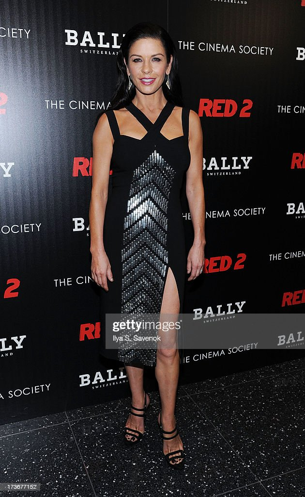Actress Catherine Zeta-Jones attends The Cinema Society And Bally Host A Screening Of Summit Entertainment's 'Red 2' at The Museum of Modern Art on July 16, 2013 in New York City.
