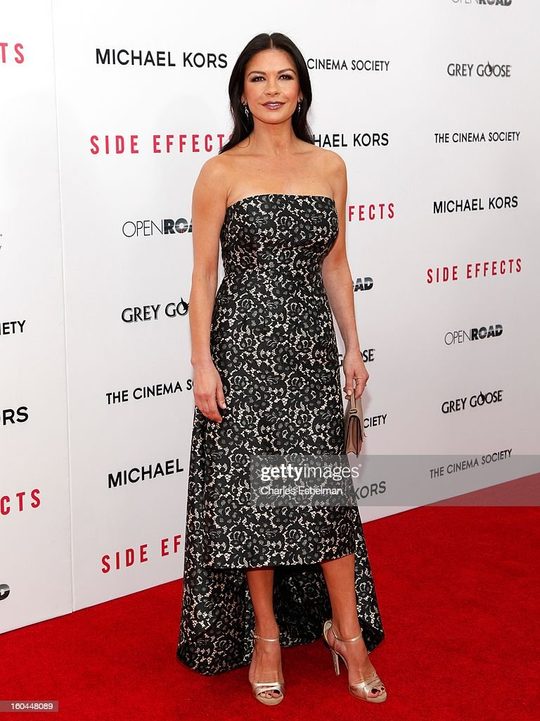 Actress Catherine Zeta-Jones attends the Open Road, The Cinema Society & Michael Kors premiere of 'Side Effects' at AMC Loews Lincoln Square on January 31, 2013 in New York City.