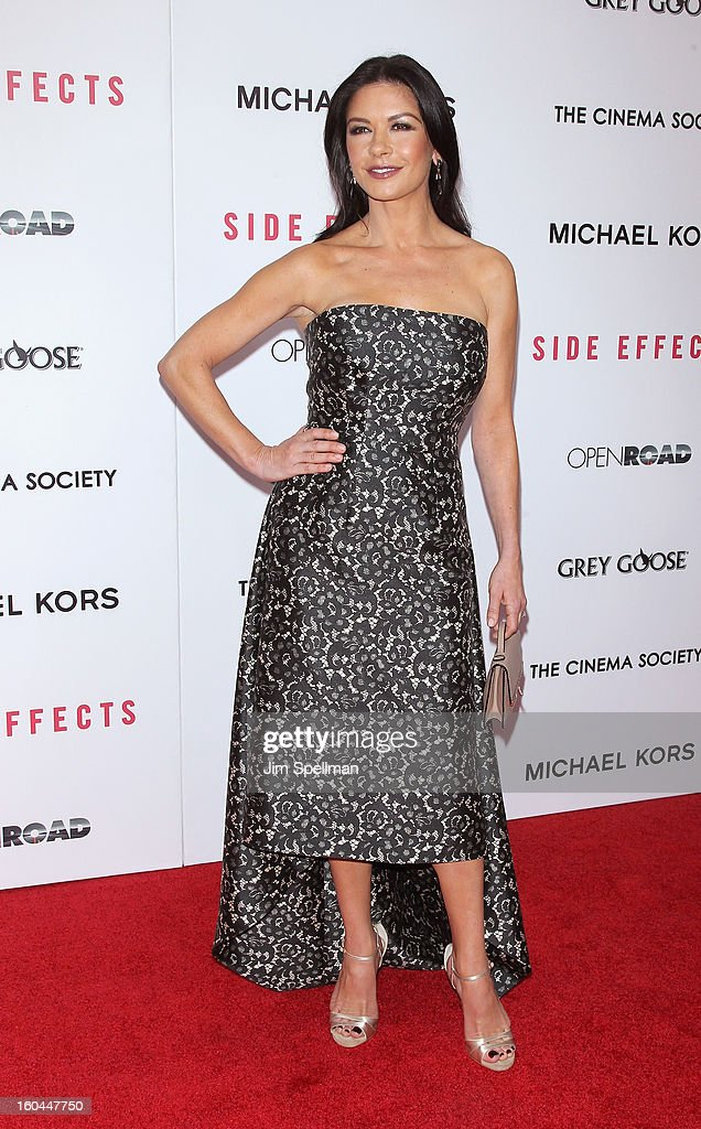 Actress Catherine Zeta-Jones attends the Open Road With The Cinema Society And Michael Kors Host The Premiere Of 'Side Effects' at AMC Lincoln Square Theater on January 31, 2013 in New York City.