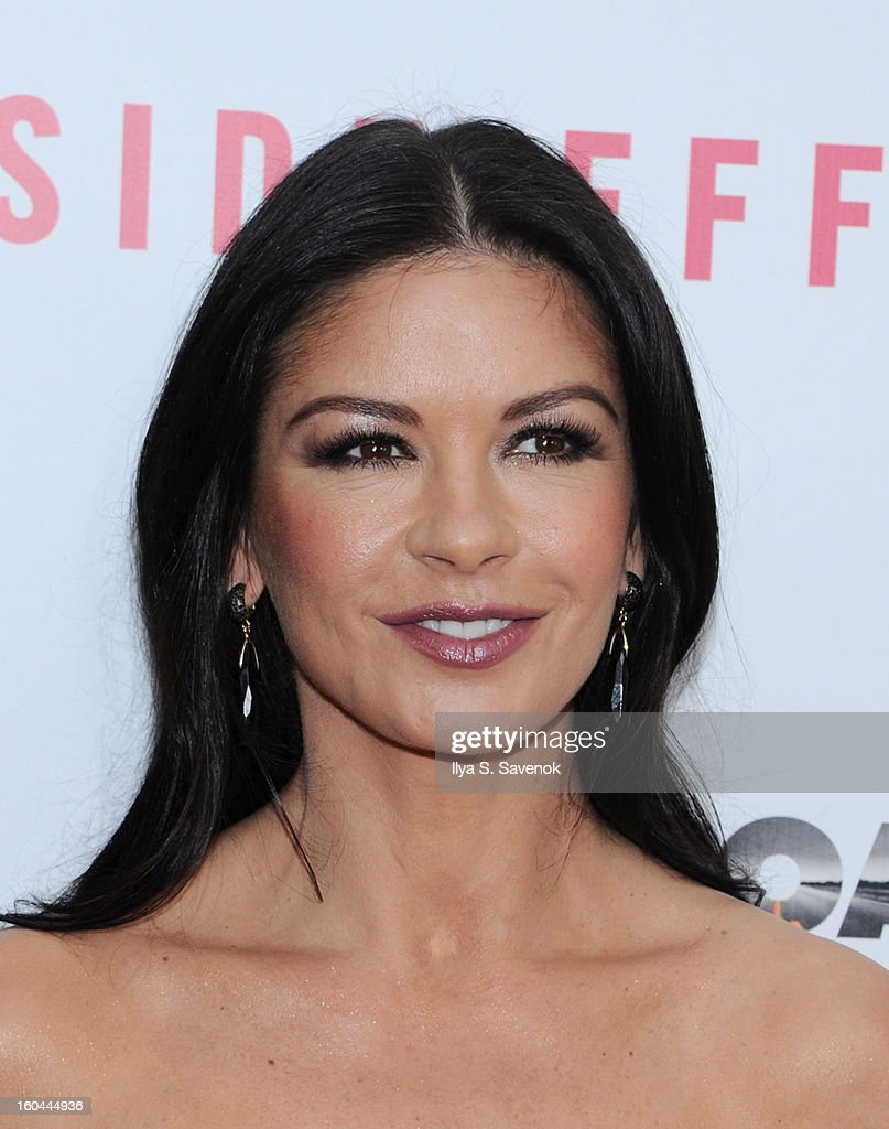 Actress Catherine Zeta-Jones attends the premiere of 'Side Effects' hosted by Open Road with The Cinema Society and Michael Kors at AMC Lincoln Square Theater on January 31, 2013 in New York City.