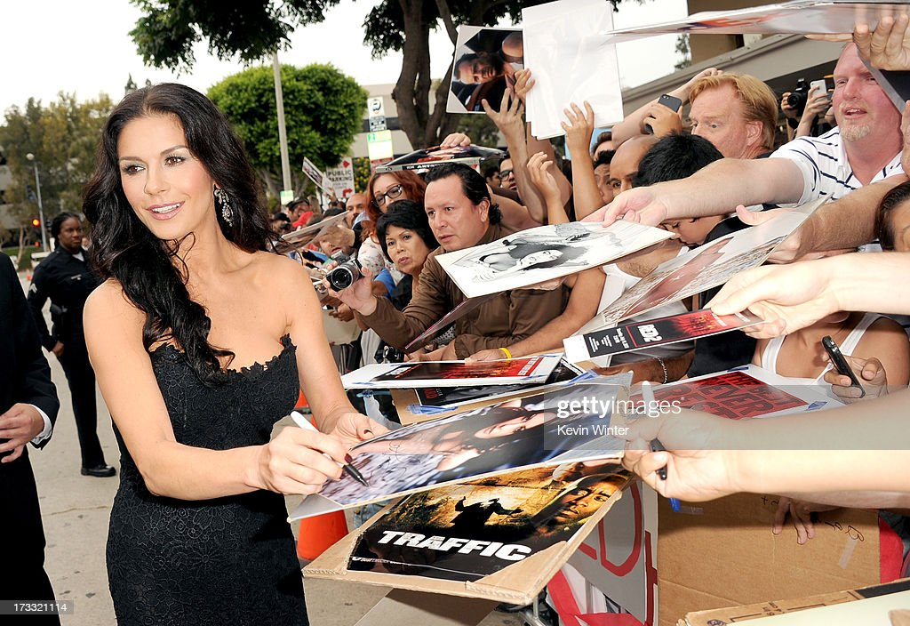 Actress <a gi-track='captionPersonalityLinkClicked' href=/galleries/search?phrase=Catherine+Zeta-Jones&family=editorial&specificpeople=167111 ng-click='$event.stopPropagation()'>Catherine Zeta-Jones</a> attends the premiere of Summit Entertainment's 'RED 2' at Westwood Village on July 11, 2013 in Los Angeles, California.