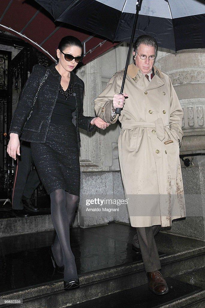 Actress Catherine Zeta-Jones leaves for shopping on January 17, 2010 in New York City.
