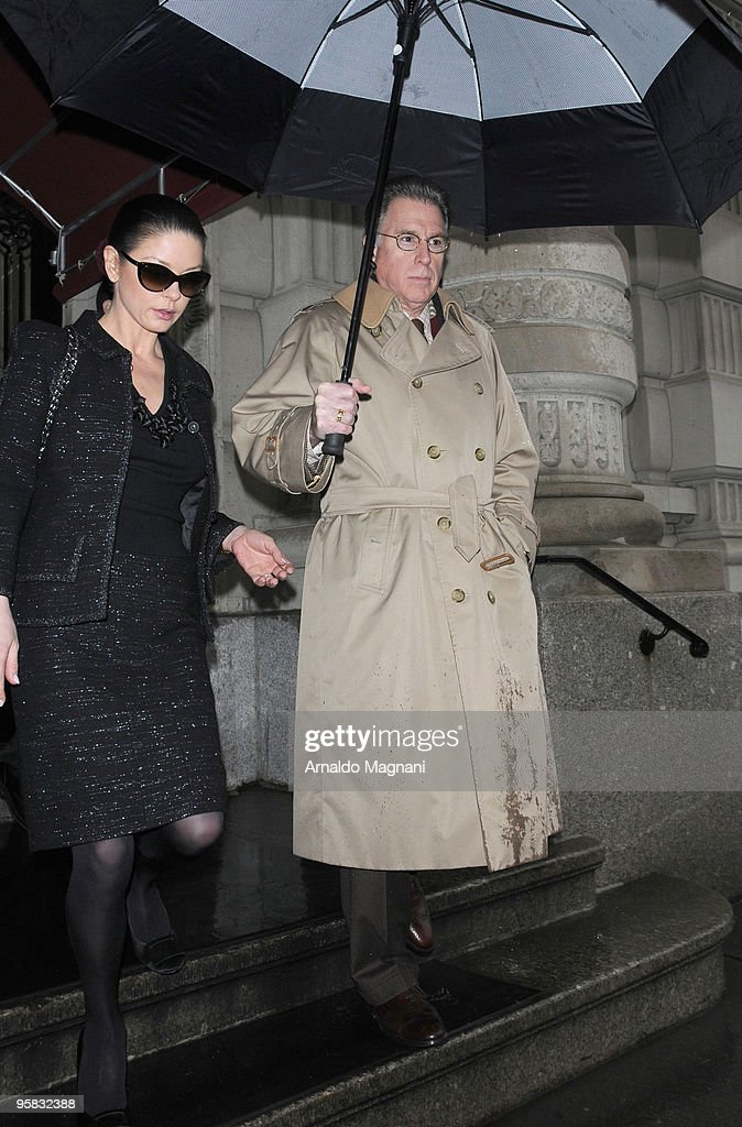 Actress Catherine Zeta-Jones leaves for shopping on January 17, 2010 in New York City.