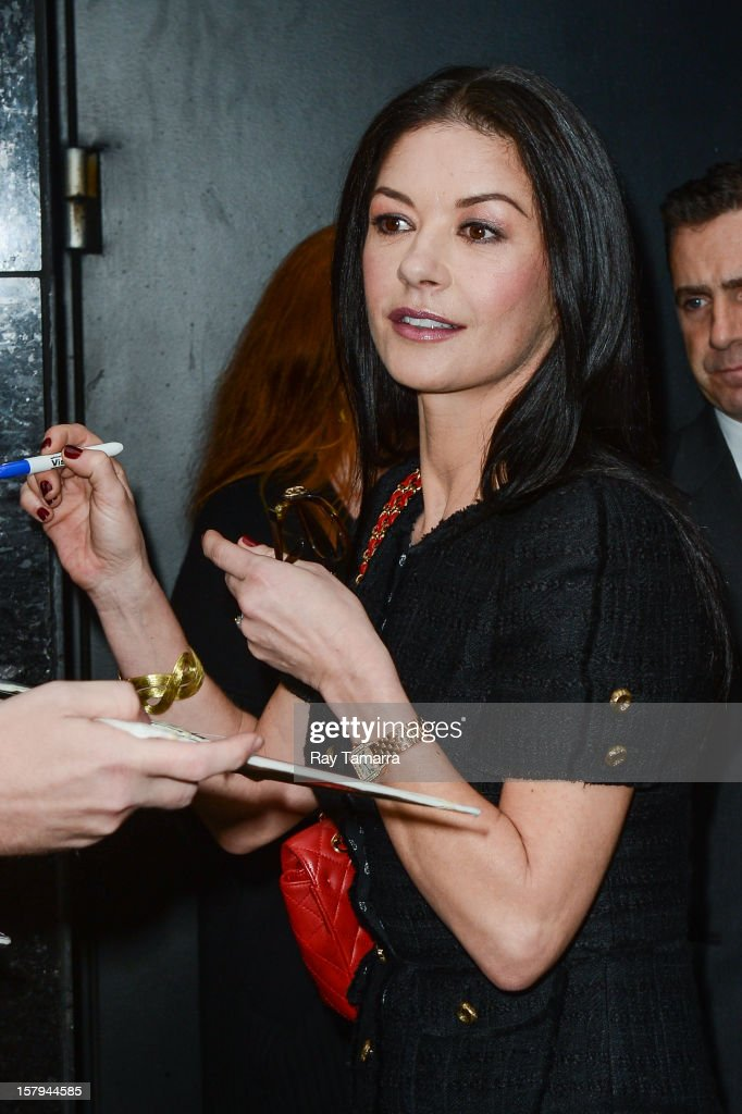 Actress Catherine Zeta-Jones leaves the 'Good Morning America' taping at the ABC Times Square Studios on December 7, 2012 in New York City.