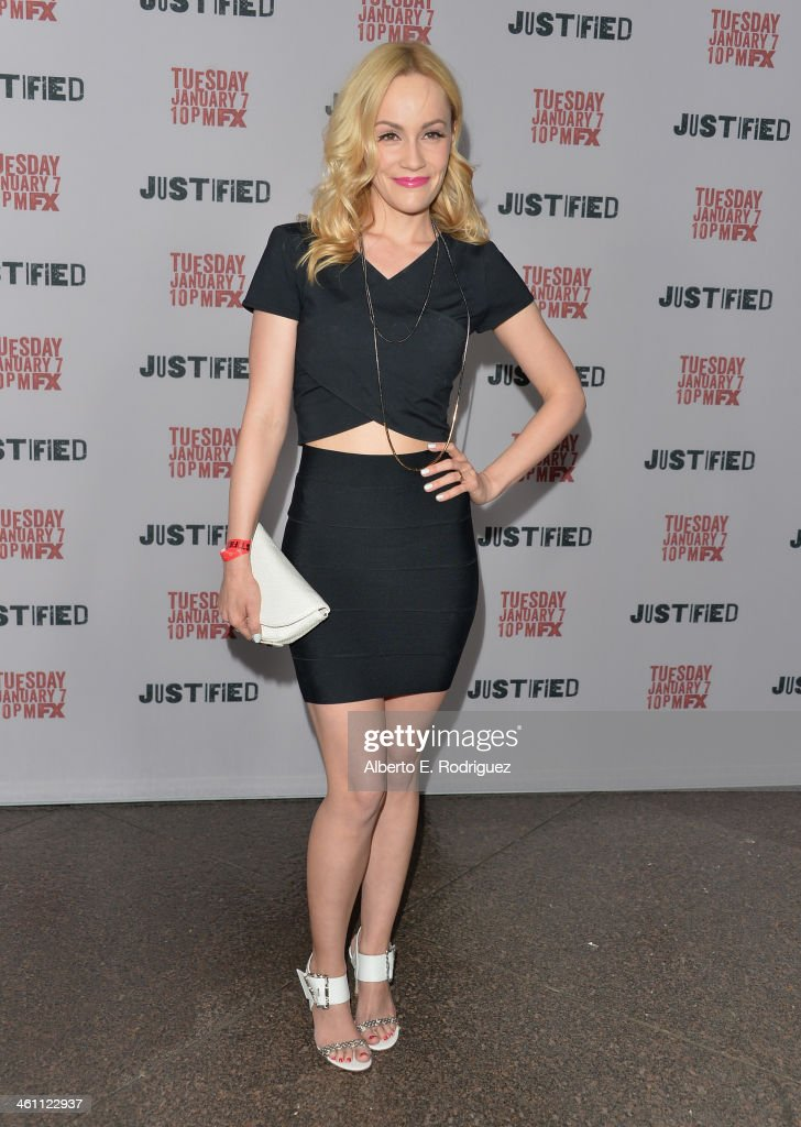 Actress Cathy Baron arrives to the Season 5 premiere of FX's 'Justified' at DGA Theater on January 6, 2014 in Los Angeles, California.