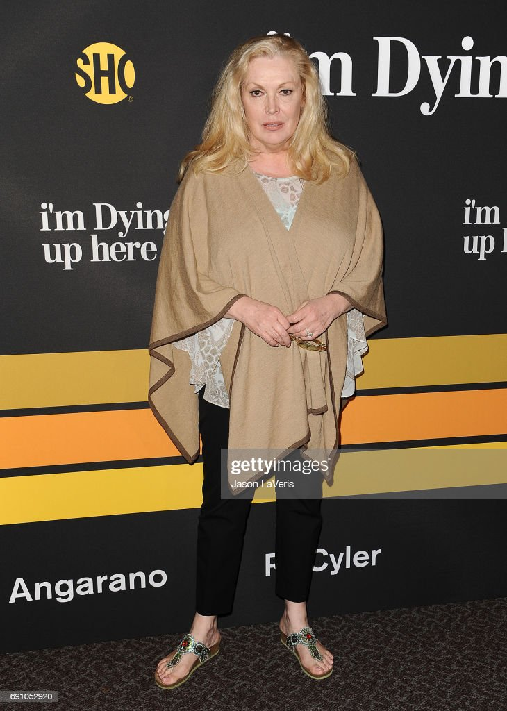 Actress Cathy Moriarty attends the premiere of 'I'm Dying Up Here' at DGA Theater on May 31, 2017 in Los Angeles, California.