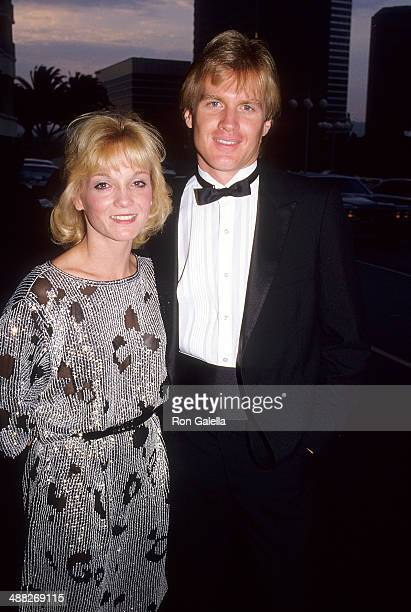 Actress Cathy Rigby and husband Tom McCoy attend the Motion Picture Association of Italy's Rudolph Valentino Award Salute to Gregory Peck and Lauren...