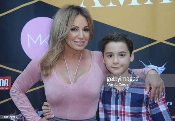 Actress CC Perkinson and son Noah Perkinson attend the Amare Magazine 1st Year Anniversary Issue Release Soiree held at a Private Residence on June...