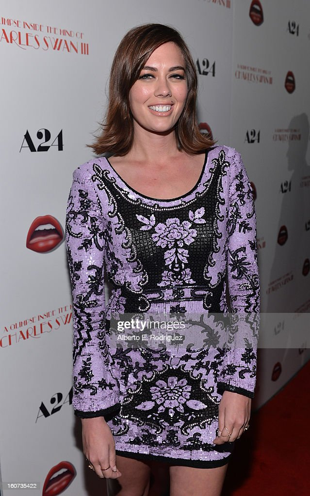 Actress C.C. Sheffield attends the Los Angeles premiere of A24's 'A Glimpse Inside The Mind Of Charles Swan III' at ArcLight Hollywood on February 4, 2013 in Hollywood, California.