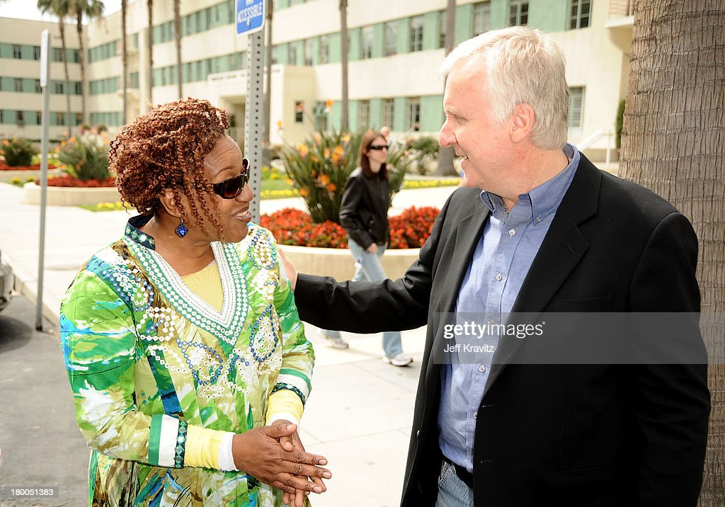 Actress CCH Pounder and director James Cameron plant first tree in North America symbolizing the one million tree initiative on behalf of the Avatar...