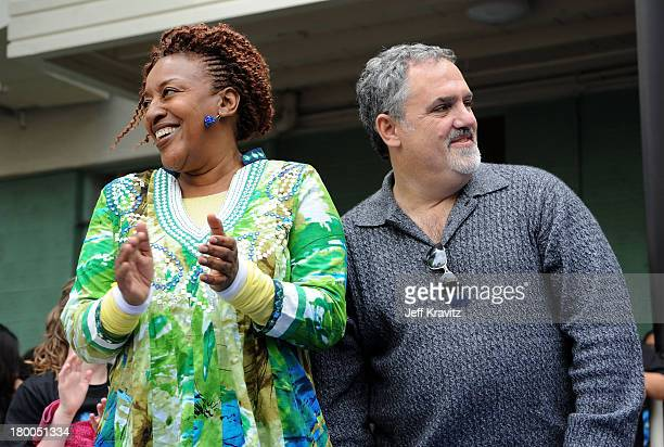 Actress CCH Pounder and producer Jon Landau plant first tree in North America symbolizing the one million tree initiative on behalf of the Avatar...