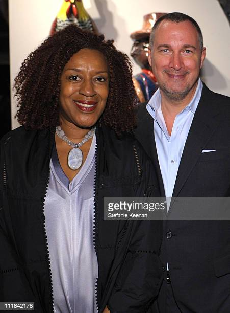 Actress CCH Pounder and Vanity Fair publisher Edward Menicheschi attends the Dior and Vanity Fair launch of BRANDAID Foundation held at Environment...