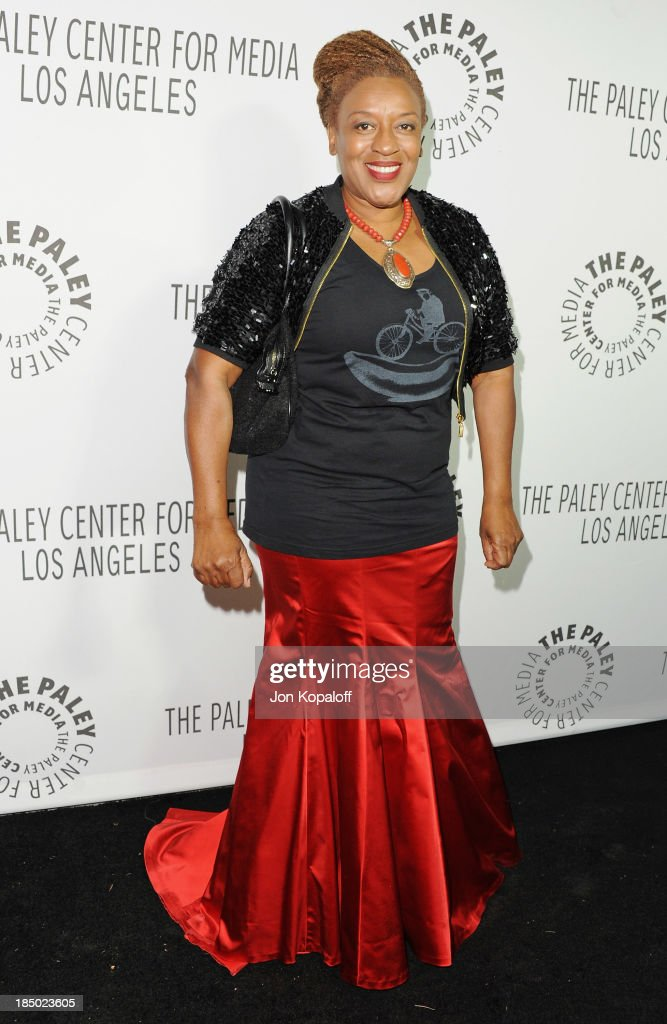 Actress C.C.H. Pounder arrives at The Paley Center for Media Hosts 2013 Benefit Gala Honoring FX Networks on October 16, 2013 in Los Angeles, California.