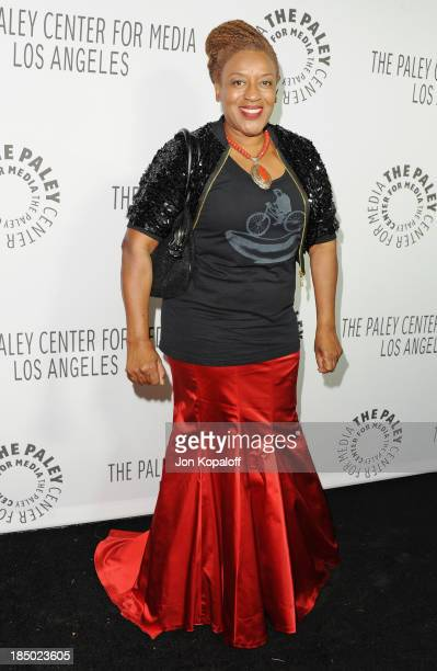 Actress CCH Pounder arrives at The Paley Center for Media Hosts 2013 Benefit Gala Honoring FX Networks on October 16 2013 in Los Angeles California