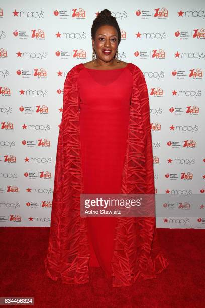 Actress C C H Pounder attends the American Heart Association's Go Red For Women Red Dress Collection 2017 presented by Macy's at Fashion Week in New...