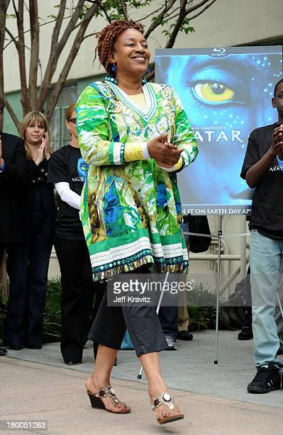 Actress CCH Pounder plants first tree in North America symbolizing the one million tree initiative on behalf of the Avatar Bluray disc and DVD...