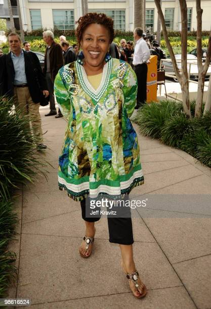 Actress CCH Pounder plants first tree in North America symbolizing the one million tree initiative on behalf of the 'Avatar' Bluray disc and DVD...
