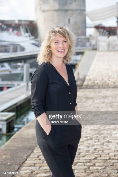 Actress Cecile Bois attends 'Meurtres a Sarlat' Photocall during the 19th Festival of TV Fiction at La Rochelle on September 16 2017 in La Rochelle...
