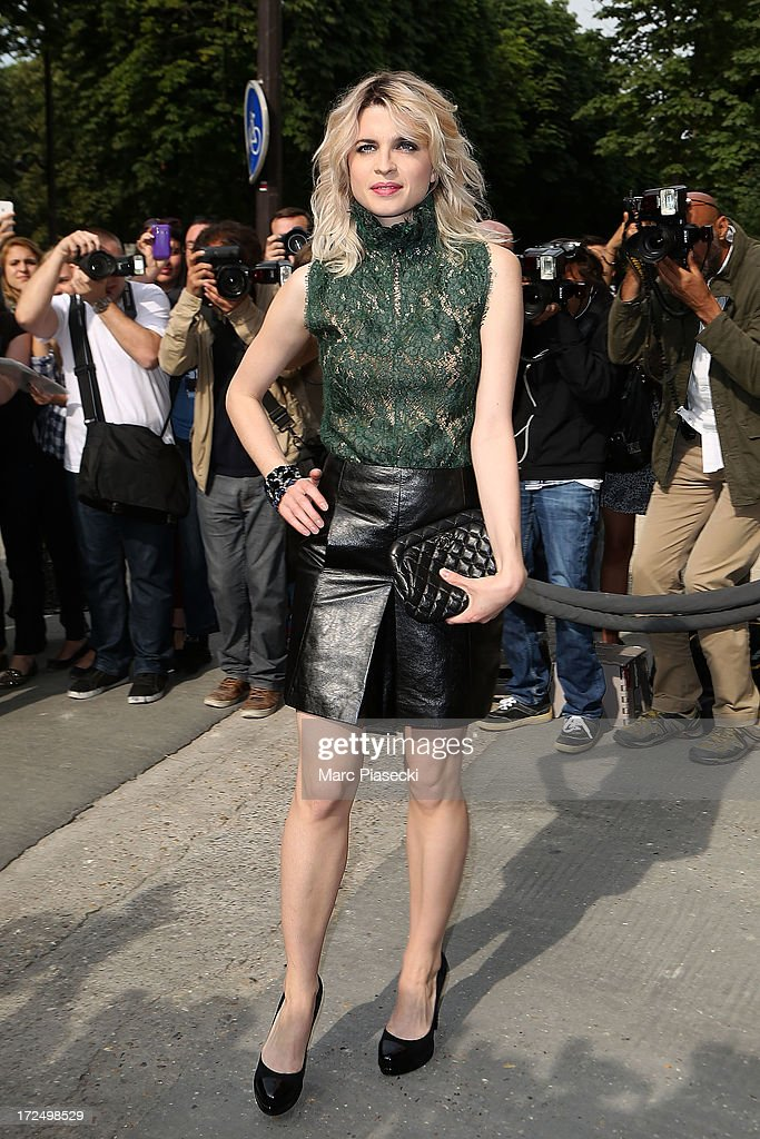 Actress Cecile Cassel attends the Chanel show as part of Paris Fashion Week Haute-Couture Fall/Winter 2013-2014 at Grand Palais on July 2, 2013 in Paris, France.