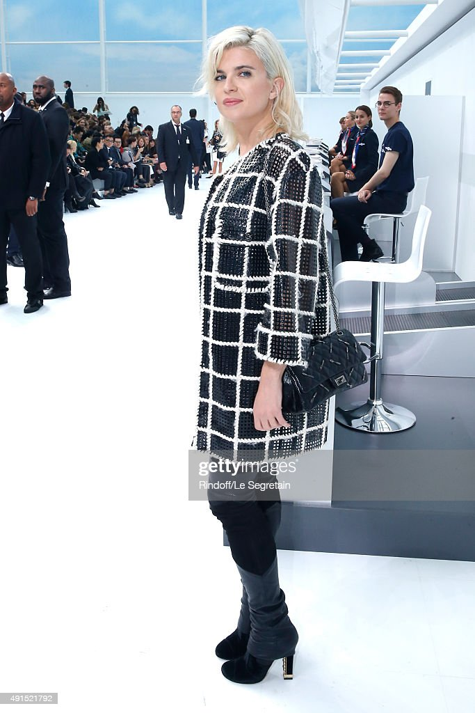 Actress Cecile Cassel attends the Chanel show as part of the Paris Fashion Week Womenswear Spring/Summer 2016 Held at Grand Palais on October 6 2015...