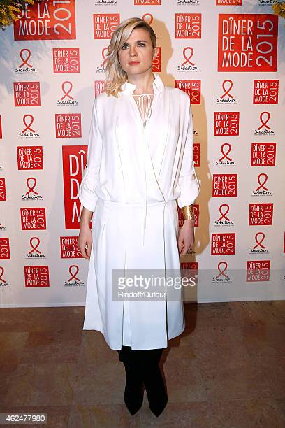 Actress Cecile Cassel attends the Sidaction Gala Dinner 2015 at Pavillon d'Armenonville on January 29 2015 in Paris France