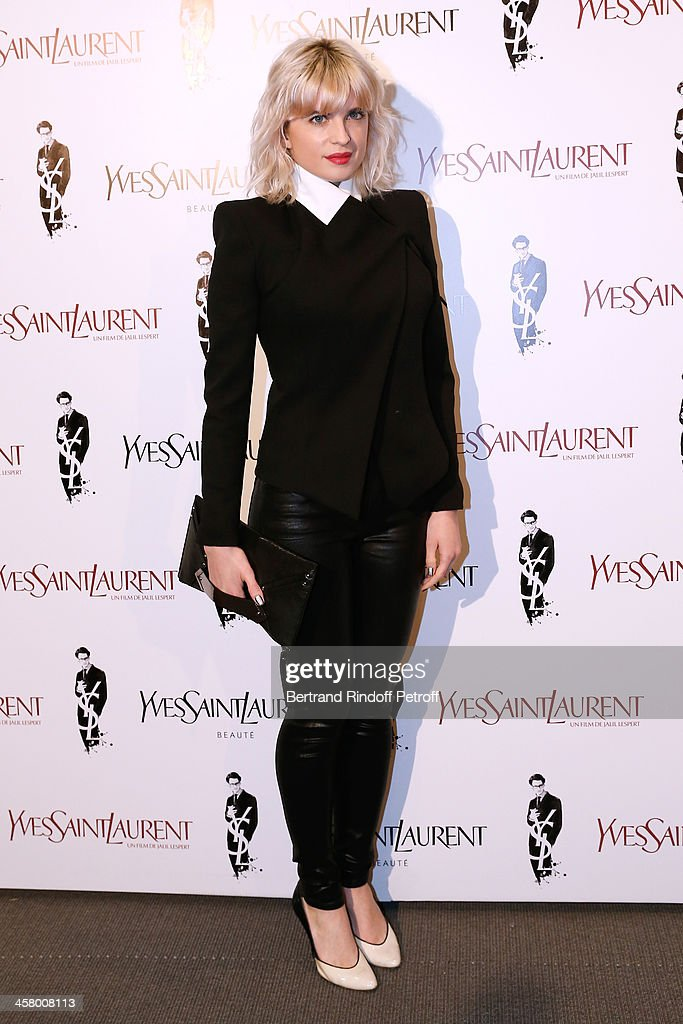 Actress <a gi-track='captionPersonalityLinkClicked' href=/galleries/search?phrase=Cecile+Cassel&family=editorial&specificpeople=765054 ng-click='$event.stopPropagation()'>Cecile Cassel</a> attends the 'Yves Saint Laurent' Paris movie Premiere at Cinema UGC Normandie on December 19, 2013 in Paris, France.