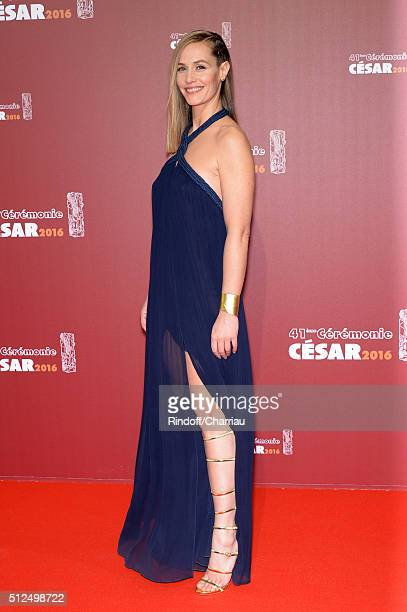 Actress Cecile de France arrives at The Cesar Film Awards 2016 at Theatre du Chatelet on February 26 2016 in Paris France