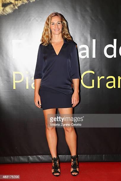 Actress Cecile de France attends La Belle Saison premiere on August 6 2015 in Locarno Switzerland