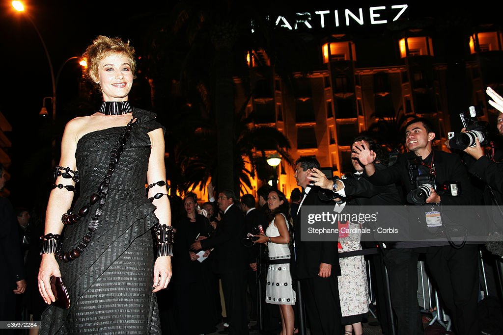 Actress Cecile de France attends the closing ceremony dinner during the 58th Cannes Film Festival.