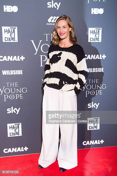 Actress Cecile de France attends the 'The Young Pope' Paris Premiere at La Cinematheque on October 17 2016 in Paris France