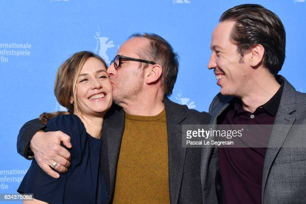 Actress Cecile de France director Etienne Comar and actor Reda Kateb attend the 'Django' photo call during the 67th Berlinale International Film...