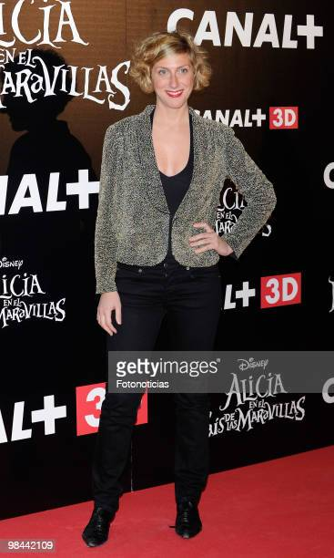 Actress Cecilia Freire attends 'Alicia en el Pais de las Maravillas' premiere at Proyecciones Cinema on April 13 2010 in Madrid Spain