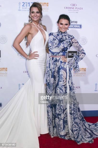 Actress Cecilia Galliano and Irina Baeva pose during the 46th Diosas de Plata movie awards at Metropolitan Theater on April 25 2017 in Mexico City...