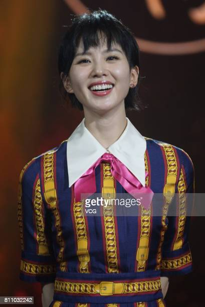 Actress Cecilia Liu Shishi attends the launch ceremony of TV series 'Lost Love in Times' on July 8 2017 in Shanghai China