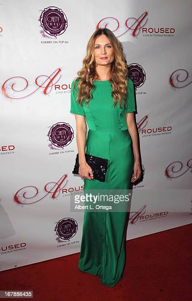 Actress Cecillia Foss arrives for the Premiere Of 'Aroused' held at Landmark Nuart Theatre on May 1 2013 in Los Angeles California