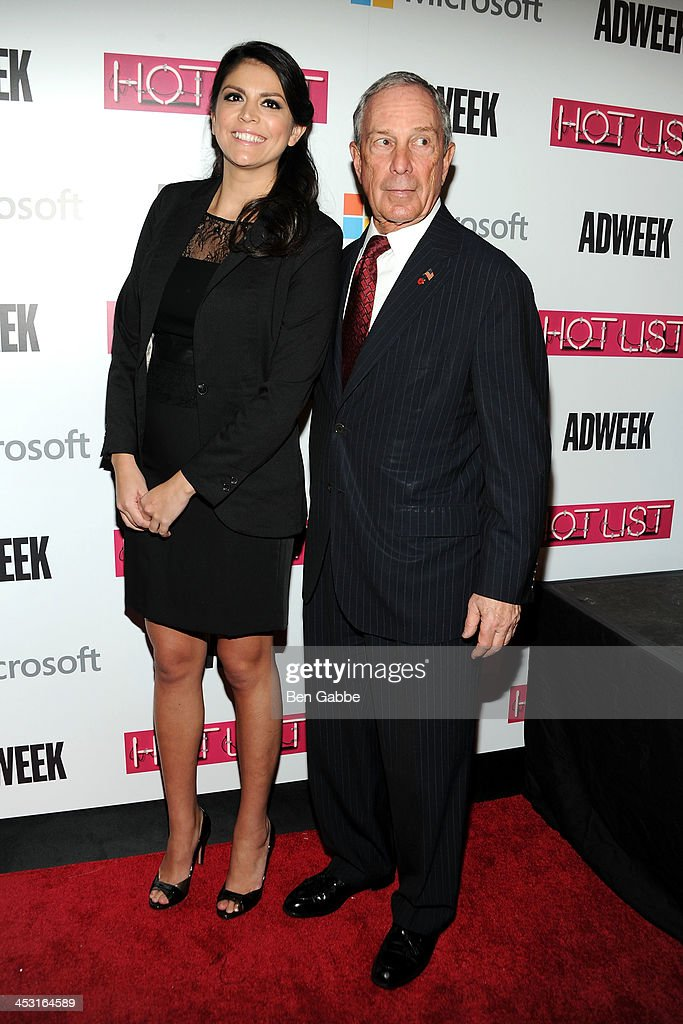 Actress <a gi-track='captionPersonalityLinkClicked' href=/galleries/search?phrase=Cecily+Strong&family=editorial&specificpeople=9951067 ng-click='$event.stopPropagation()'>Cecily Strong</a> (L) and Mayor <a gi-track='captionPersonalityLinkClicked' href=/galleries/search?phrase=Michael+Bloomberg&family=editorial&specificpeople=171685 ng-click='$event.stopPropagation()'>Michael Bloomberg</a> attend the 2013 Adweek Hot List gala at Capitale on December 2, 2013 in New York City.
