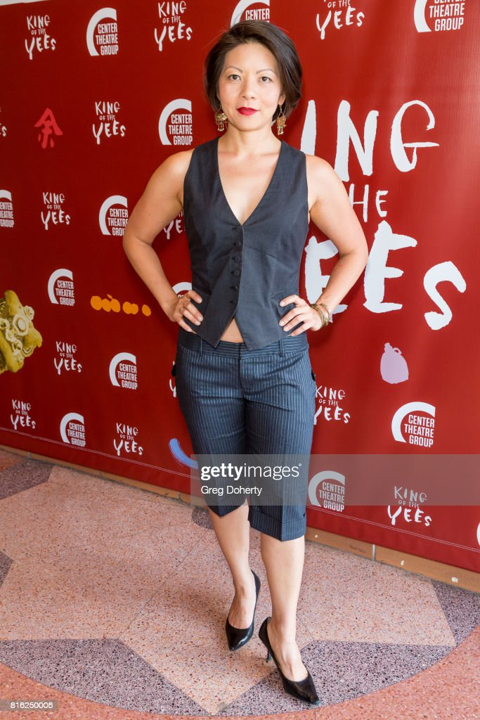 Actress Celeste Den attends the Opening Night Of 'King Of The Yees' at the Kirk Douglas Theatre on July 16, 2017 in Culver City, California.